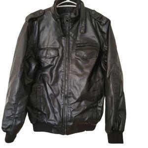 Buffalo David Biton vegan men black jacket